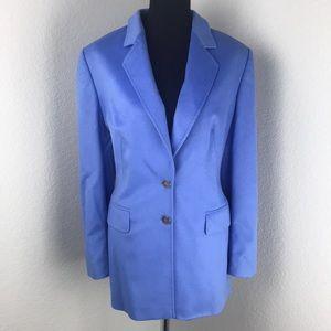 Escada Blue Rabbit & Wool Super Soft Jacket Blazer